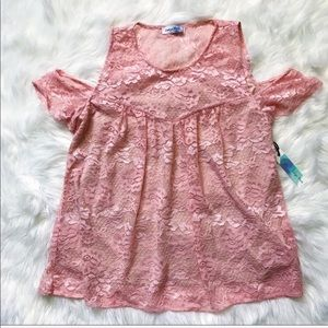 Soft Pink Lace Top